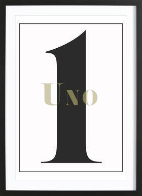 Numero 1 Framed Print