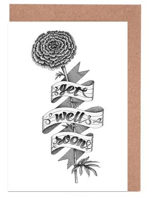 Get well soon hand-lettering cartes de vœux