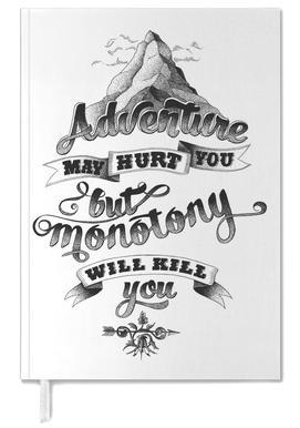Adventure hand-lettering agenda