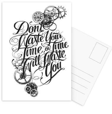 Don't waste hand-lettering Postcard Set