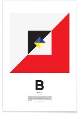 B - Bahaus - Premium poster