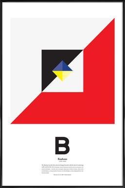 B - Bahaus - Poster in kunststof lijst
