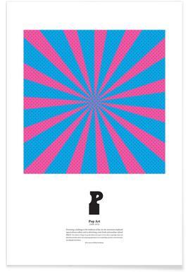 P - Pop Art - Premium Poster