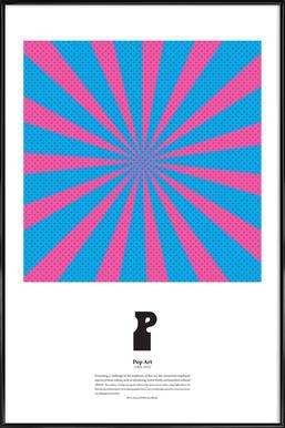 P - Pop Art affiche encadrée