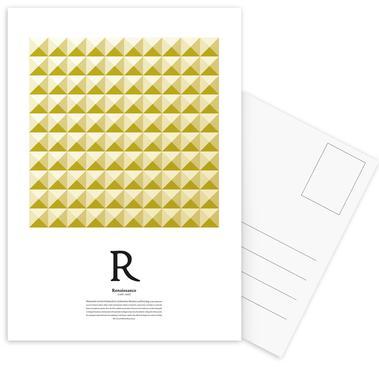 R - Renaissance Postcard Set