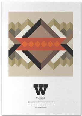 W - Western Style Notebook