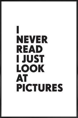 I never read ingelijste poster