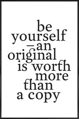Be yourself -Bild mit Kunststoffrahmen