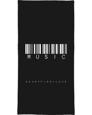 Barcode MUSIC Black Bath Towel