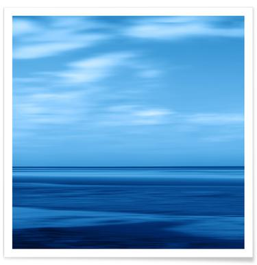 Seascape Blue Sky affiche