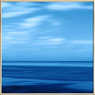 Seascape Blue Sky -Poster im Alurahmen