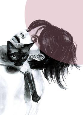 Cat Lady -Leinwandbild