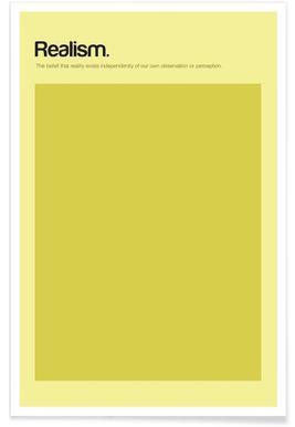 Realismus - Minimalistische Definition -Poster