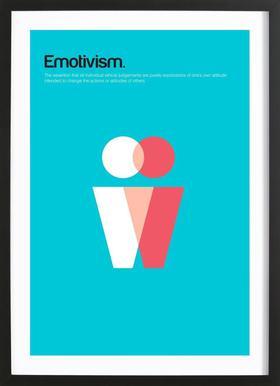 Emotivism affiche sous cadre en bois