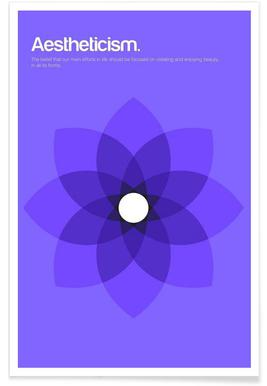 Aestheticism - Minimalistic Definition Poster
