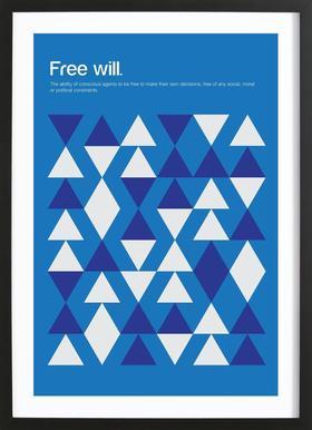 Free Will affiche sous cadre en bois