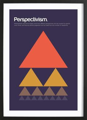 Perspectivism affiche sous cadre en bois