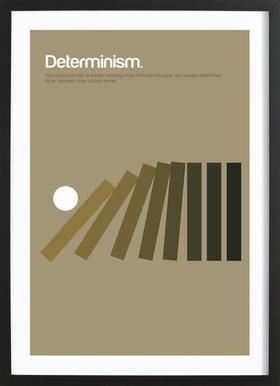 Determinism affiche sous cadre en bois