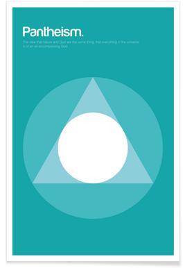 Pantheïsme - minimalistische definitie poster