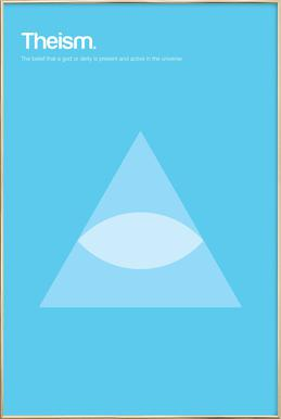 Theism -Poster im Alurahmen