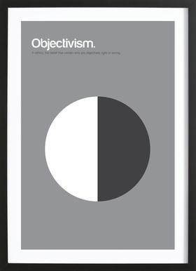 Objectivism affiche sous cadre en bois