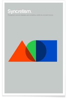 Syncrétisme - Definition minimaliste affiche