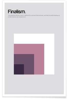 Finalismus-Minimalistische Definition -Poster
