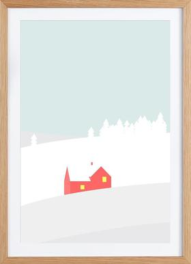 Hus No. 1 - Poster in Wooden Frame