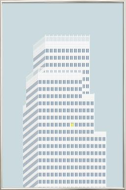 Over Hustagene affiche sous cadre en aluminium