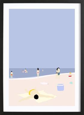 På Stranden -Bild mit Holzrahmen