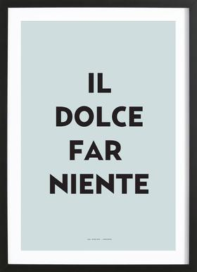 Il dolce far niente - Poster in Wooden Frame