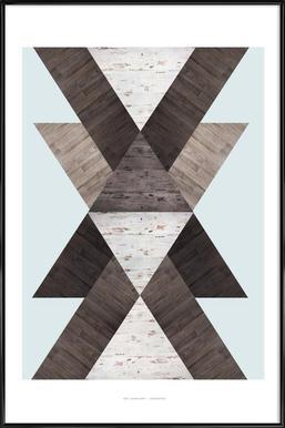 Wood N.2 ingelijste poster