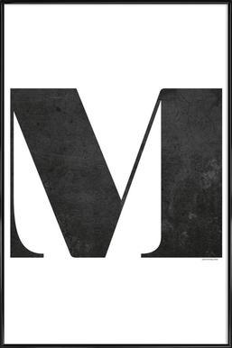 M - Affiche sous cadre standard