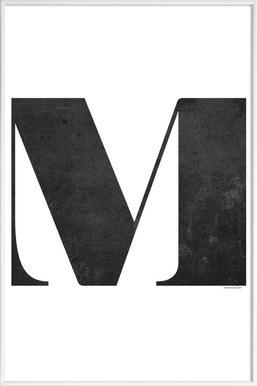 M - Poster in Standard Frame