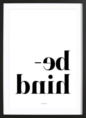 Behind - Poster in Wooden Frame