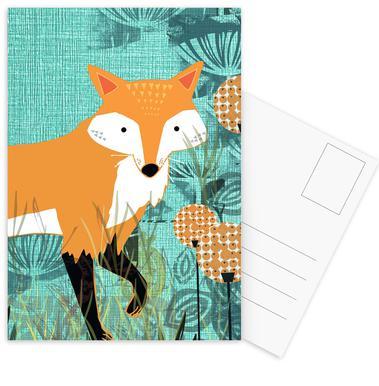Tourquiose Fox Postcard Set