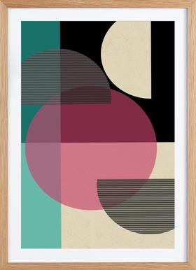 Circular Converge - Poster in Wooden Frame