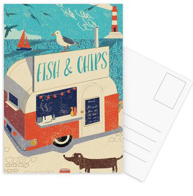 Fish and Chips Postcard Set