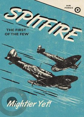 Spitfire canvas doek