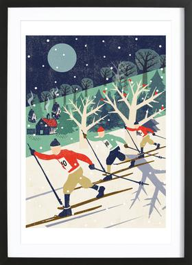 Skiers Framed Print