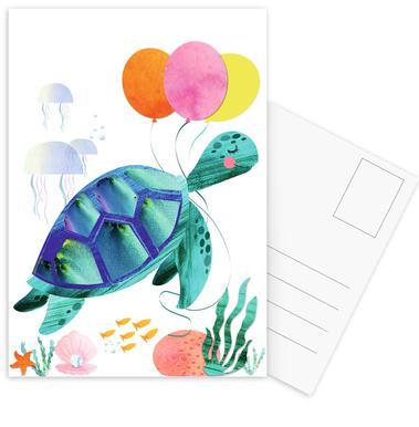 Turtle -Postkartenset