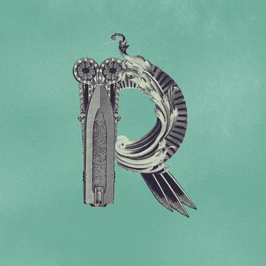 Steampunk Alphabet Letter R