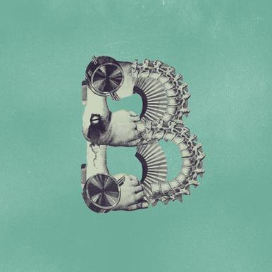 Steampunk Alphabet Letter B