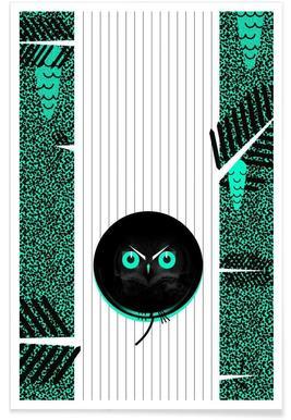 Polka Dot Owl Poster