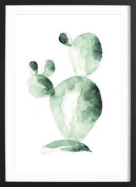 Cactus Friend - Poster in Wooden Frame