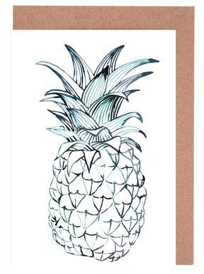 Pineapple -Grußkarten-Set