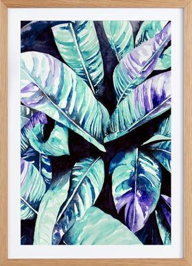 Palm - Poster im Holzrahmen