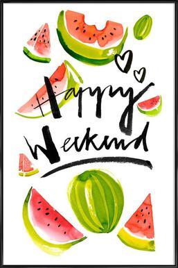 Happy Weekend affiche encadrée