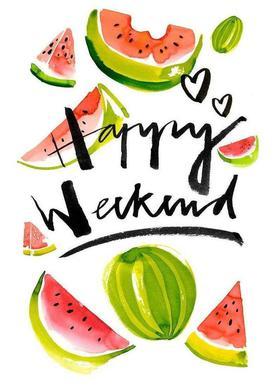 Happy Weekend -Leinwandbild