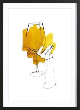 Vino -Bild mit Holzrahmen